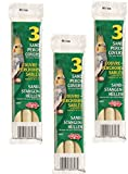 (3 Pack) Living World Sand Perch Refills for Cockatiels, 3 Refills each