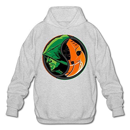 [MARC Men's Green Arrow Sweater Ash Size L] (Real Power Ranger Costumes)