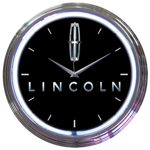 Neonetics Ford Lincoln Neon Wall Clock, 15-Inch