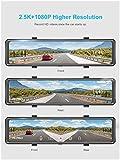"AKASO DL12 2.5K Mirror Dash Cam 12"" Touch Screen"