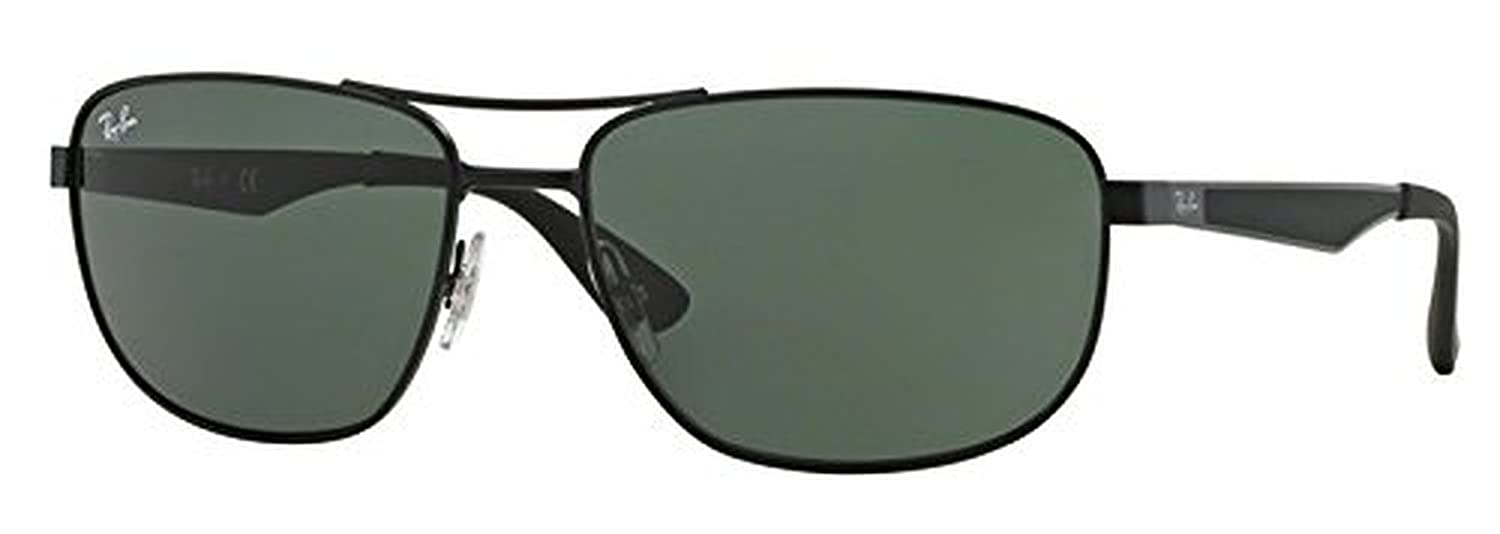 08af8a49d1ee8 Amazon.com  Ray-Ban RB 3528 Sunglasses Matte Black   Green 61mm   HDO  Cleaning Carekit Bundle  Clothing