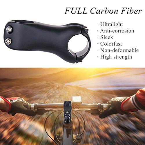 ELITA ONE 31.8 Stem Full Carbon Fiber Bicycle Stem,6/°//17/° Adjustable Lightweight Bike Handlebar Carbon Stems Cycling Road Bike MTB Stem