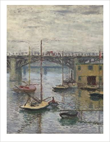 claude monet bridge at argenteuil on a gray day decorative notebook journal 85 x 11