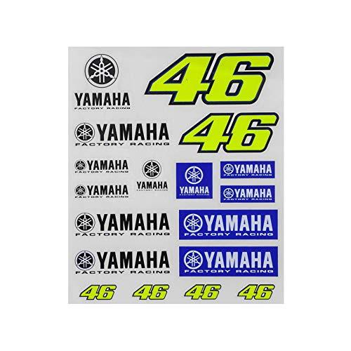 Set 18 Pegatinas Valentino Rossi Oficial 2017 Yamaha YDUST273503