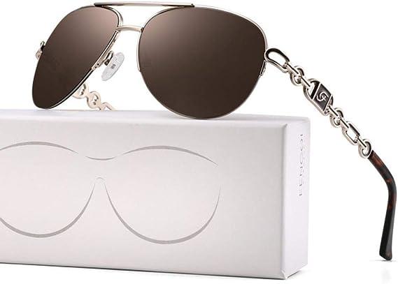 ZKYXZG Sonnenbrillen Pilot Spiegel Sonnenbrille Frauen