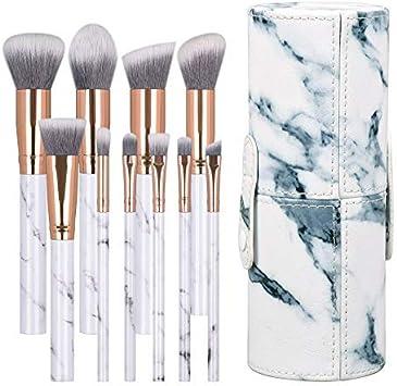 Lot De 10 Boite Pinceaux Maquillage Professionnels Ensemble Avec Marbre Cosmetiques Outils Sacs Pour Femme Fille Amazon Fr Beaute Et Parfum