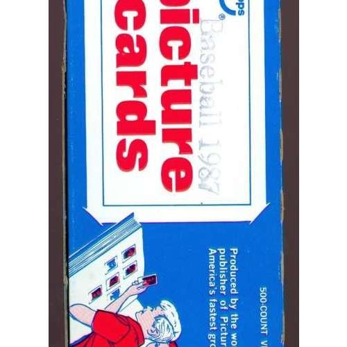 - 1987 Topps Baseball Vending Box ~ Wax Pack Barry Bonds Rookie Card Set RC Case