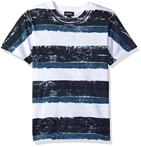 Diesel Kids Boys Clothing (Diesel Big Boys' Taolt Stripe T-Shirt, Dark Blue, 10)