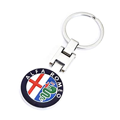 VILLSION 3D Car Logo Key Chain Double Sided Alloy Metal Keyring Auto Keychain Accessories with Gift Box: Automotive