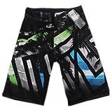 Mens Swim Trunks Surfing Shorts Loose Boardshorts for Sport 34'' Black