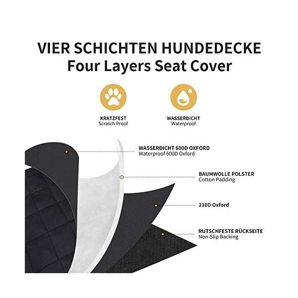 5197T9XdDwL Toozey Hunde Autositz Hundesitz Auto für Kleine und Mittlere Hunde - Extra Stabiler Hundesitz für Rückbank und…