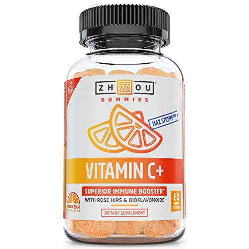 Vitamin C+ Gummies - Rapid Immunity Booster Gummy Vitamins, Vitamin C with Bioflavonoids & Rosehips for Optimal Immune System Support, Adults & Childrens Vitamins