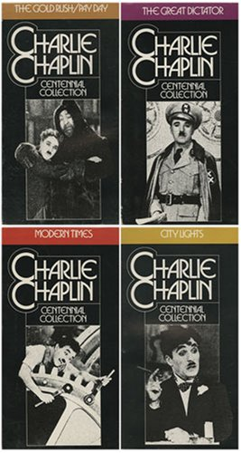 Charlie Chaplin Centennial Collection - 1) The Gold Rush / Pay Day , 2) The Great Dictator , 3) City Lights , 4) Modern Times (4 VHS Set) (Lights City Chaplin)