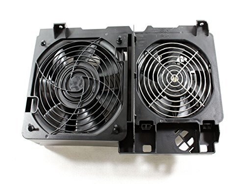 Genuine Dell KC257 YC653 Dual Front CPU Cooling Fan Assembly, For The Precision Workstation PWS 690 and T7400 Systems, Compatible Dell Part Numbers: WN845, CD673, DG168, MM089