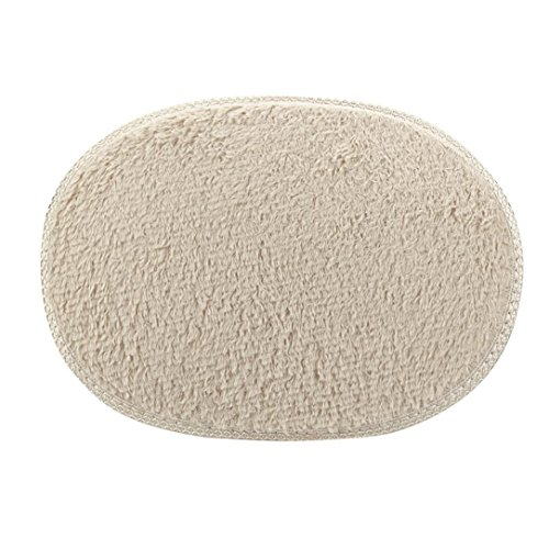 """Price comparison product image LNGRY 1PC 11.8""""x19.7"""" / 30x50cm Small Oval Non Slip Fluffy Shaggy Home Bedroom Bathroom Floor Door Shower Rugs Carpet Bath Mat Rugs (Khaki)"""