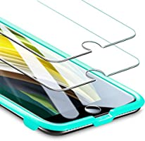 ESR Tempered-Glass for iPhone SE 2020/8/7 Screen Protector [2-Pack] [Easy Installation Frame] [Case-Friendly] Premium...