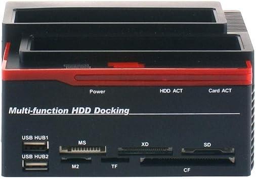 Estación de carga triple para 3 discos duros de 3,5 y 2,5, doble SATA, caja 1 IDE HD, modelo893U2IS: Amazon.es: Electrónica