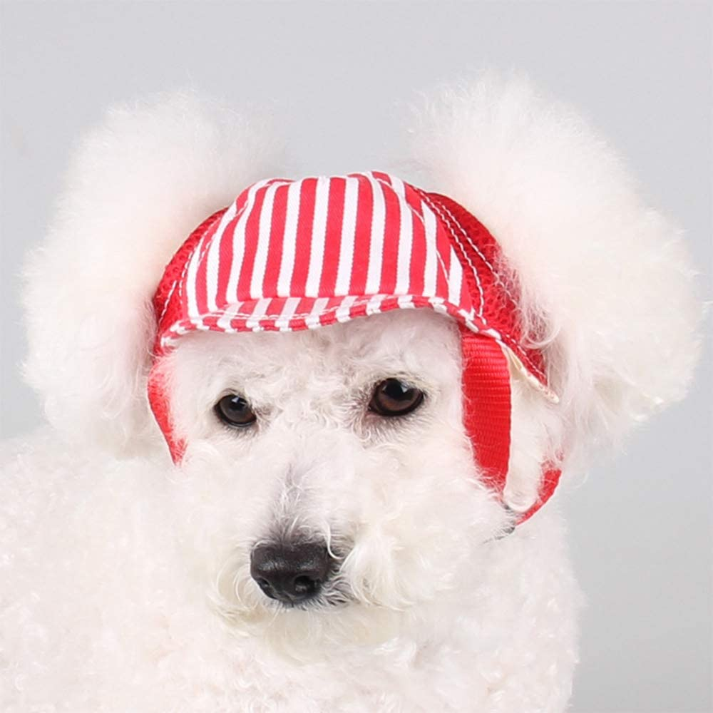 XinGiao Dog Hat Pet Baseball Cap Dogs Sport Hat Visor Cap Sunhat with Ear Holes Cotton Relax 3 Sizes 3 Colors
