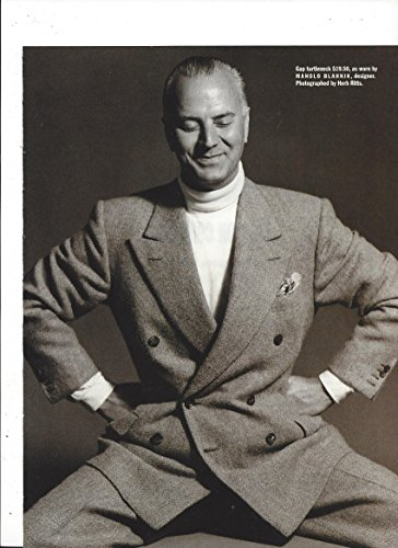 **PRINT AD** With Manolo Blahnik For Gap Turtlenecks **PRINT AD** - Gap Turtleneck
