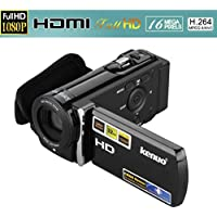 KENUO 3.0 TFT LCD 16x Zoom DV HD 1080P 16MP Camcorder Digital Video Camera W/ HDMI Black