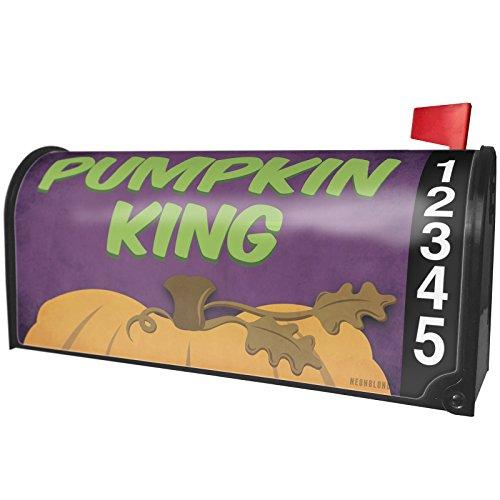 NEONBLOND Pumpkin King Halloween Pumpkin Top Magnetic Mailbox Cover Custom Numbers ()