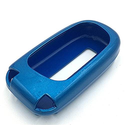 Ezzy Auto Blue Paint Plastic Key Fob Case Key Cover Key Jacket Skin Protector fit for Dodge Jeep