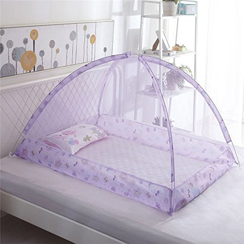 Wenje Folding Baby Kids Infant Protector Bed Zipper Canopy Mosquito Net Tent Hut 90cm120cm Blue