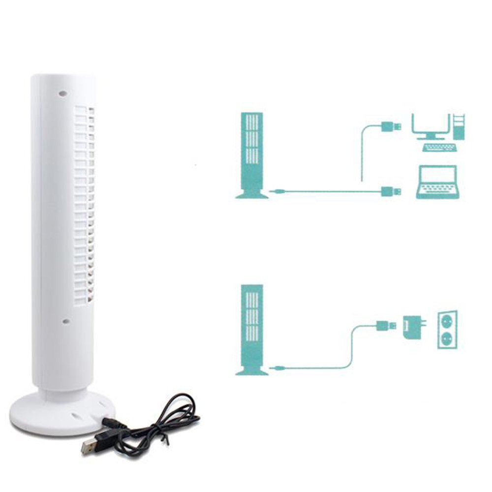 Computer & Office White Usb Mini Tower Desk Fan Cool Cooling Computer Notebook Office