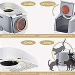 DADYPET-Toilette-per-Gatti-Lettiera-per-Gatti-Cabina-Libera-per-Gatti-Doppia-Porta-Design-Porta-Dingresso-Superiore-Configurabile-Ergonomica-Grande-Lettiera-per-Gatti-Grigia