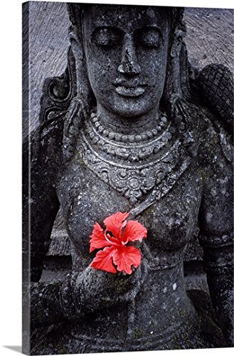 Bruno Morandi Premium Thick-Wrap Canvas Wall Art Print entitled Indonesia, Bali, Garden staues at hotel in Ubud area by Canvas on Demand