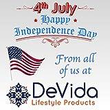DeVida Patriotic Red White Blue Solar String Lights
