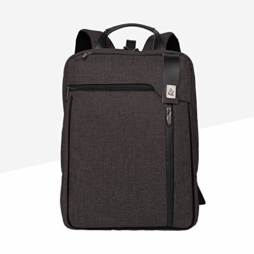 15.6' Suit - Cai 15.6'' Business Laptop Backpack Multifunctional Satchel bag Double Compartments Rucksack Shool Hiking Travel Bag Commuting Bag Casual Backpack Unisex Ash Black 5179
