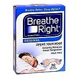 Breathe Right Nasal Strips Original Tan Small/Medium 30 ea (Pack of 9)