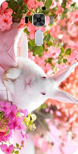 Shengshou Rabbit Design Mobile Back Cover for Asus Zenfone 3 Laser ZC551KL 5.5 in   Pink White