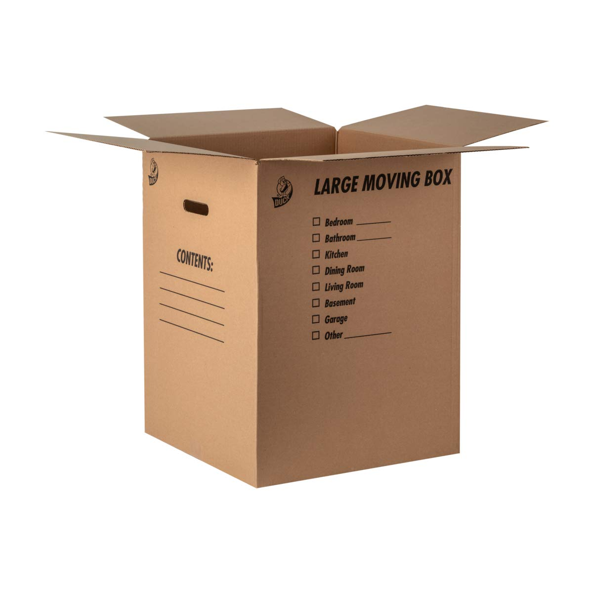 Duck Brand Kraft Corrugated Shipping Boxes, 18'' x 18'' x 24'', Brown, 6-Pack (1139734)
