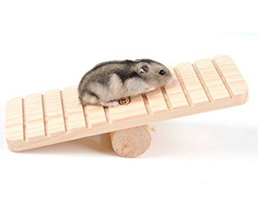 Vi.yo Wood Wood Seesaw for Hamster Pet Accessories Rat Mouse Small Animal Play House Cage Chew Toy
