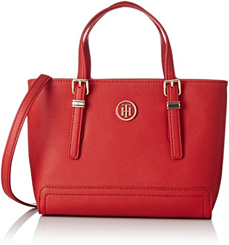 Tommy Hilfiger Honey Small Tote, Borse a mano Donna Rosso (Tommy Red)