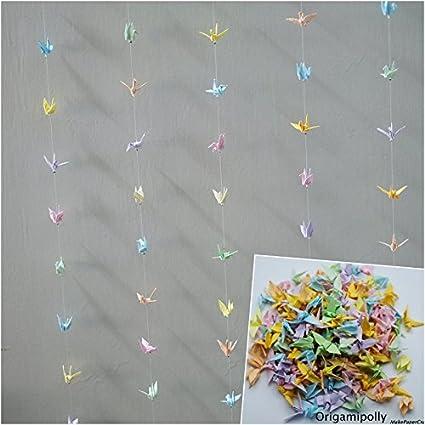 Amazon.com: 1000 Origami Crane cordón mezcla de color, para ...