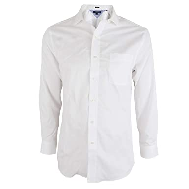 a6a61b32400ecd Tommy Hilfiger 100 % Cotton Easy Care White Oxford Collar Slim Fit Men s  Dress Shirt 14.5 quot
