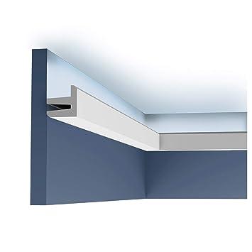 Corniche Orac Decor C380 Modern L3 Eclairage Indirect Moulure Decorative Design Moderne Blanc 2m