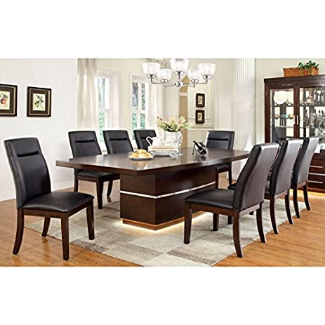 Beau Furniture Of America Lyzandrie Contemporary 9 Piece Dining Set
