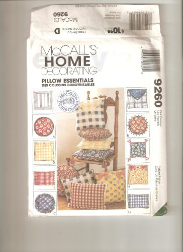 McCall's home decorating pattern 9260, pillow essentials