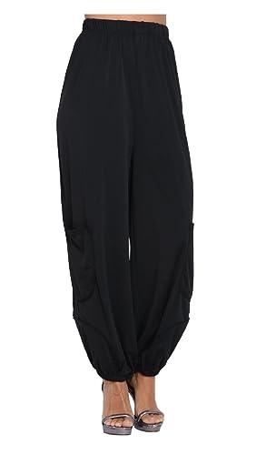 Pomme Rouge – Pantalón ALYA – Mujer – XXL – Negro
