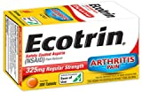 Ecotrin Safety Coated Aspirin 325 mg Regular Strength Pain Reliever - 300 Tablets, Pack of 6