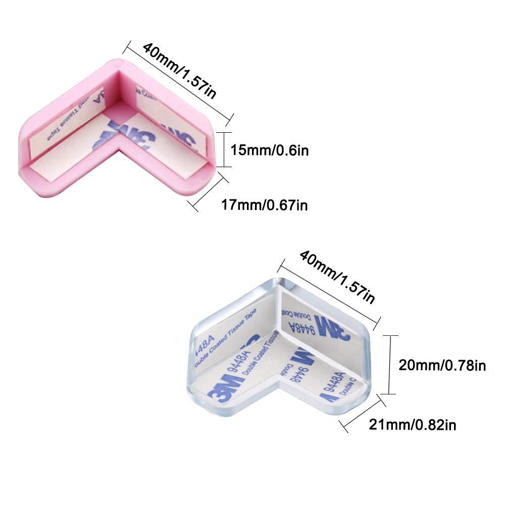 Eckschutz 20 St/ück Glastische M/öbelkantenschutz Senhai Eckenschutz mit Haftung gegen scharfe Ecken und gegen Kollisionen f/ür Babysicherheit