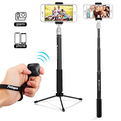 Fotopro 36' Selfie Stick with Bluetooth Remote...