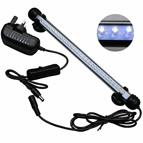 ECTENX LED Aquarium Light Kit for Fish Tank, Submersible LED Light Suitable for Saltwater and Freshwater, 30 White Leds, Size 11 inches, 2.3 Watts