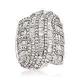 Ross-Simons 3.00 ct. t.w. Diamond Multi-Row Ring in 14kt White Gold