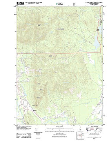 USGS Historical Topographic Map | 2012 North Conway East, NH |Fine Art Cartography Reproduction - Of Map North Nh Conway