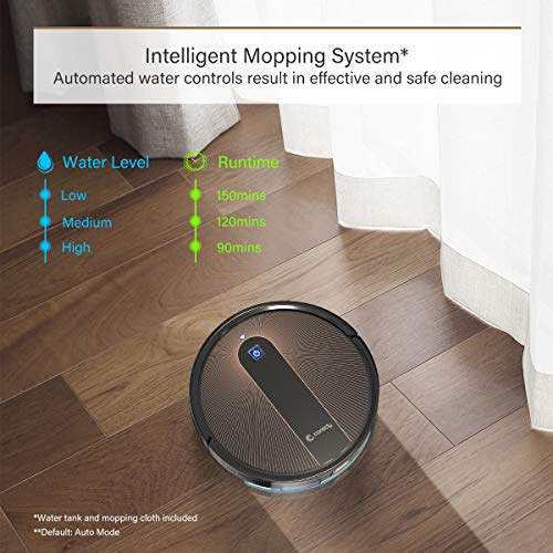 Coredy R750 Robot Vacuum Cleaner, Compatible with Alexa, Mopping System, Boost Intellect, Virtual Boundary Supported… 2